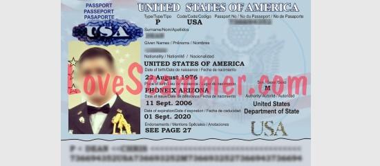 Fake passport to gain trust.